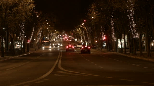 lisbon at night - liberdade stock videos & royalty-free footage