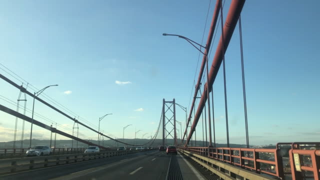 lisbon bridge april 25 - ponte stock videos & royalty-free footage