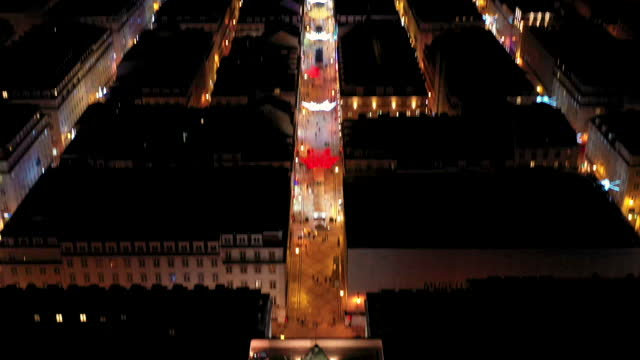 lisbon city lighted up for christmas - other stock videos & royalty-free footage