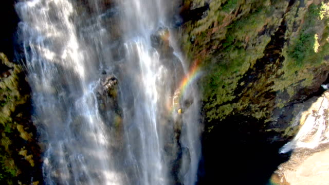 lisbon falls, mpumalanga/aerial view, south africa - falling water stock videos & royalty-free footage