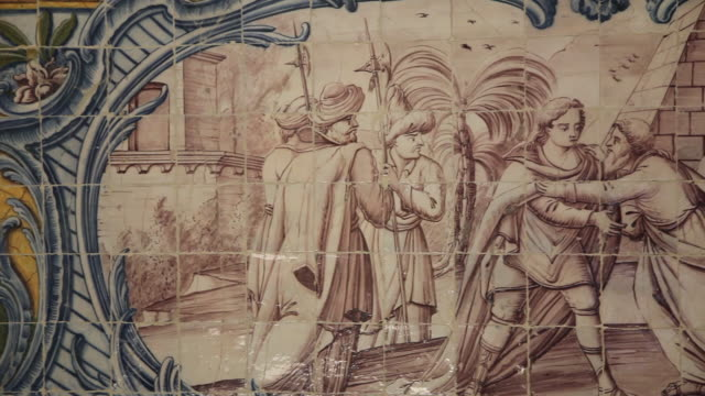 lisbon, jeronimos monastery, hieronymites monastery (mosteiro dos jeronimos), refectory with azulejos tiles, belem - mosteiro dos jeronimos stock videos and b-roll footage