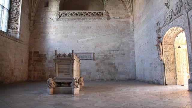 Lisbon, Jeronimos Monastery, Hieronymites Monastery (Mosteiro dos Jeronimos), the cloister, tomb of Alexandre Herculano, Portuguese novelist and historian