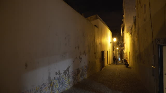 lisbon night - abandoned stock videos and b-roll footage