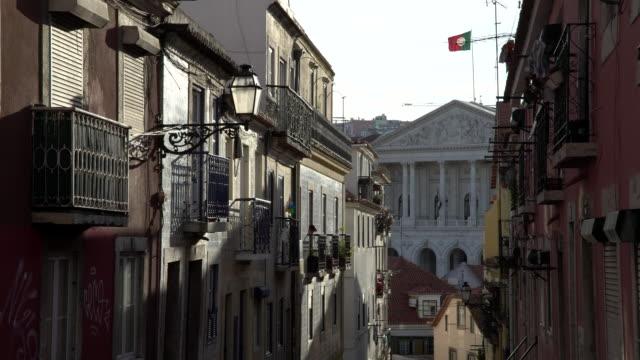 vídeos de stock e filmes b-roll de lisbon parlement - edifício do parlamento