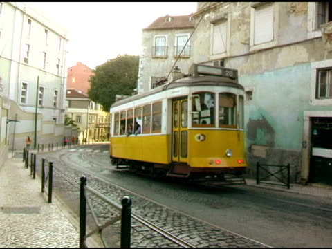 lisbon portugal cable trolly car 1 - tram stock videos & royalty-free footage