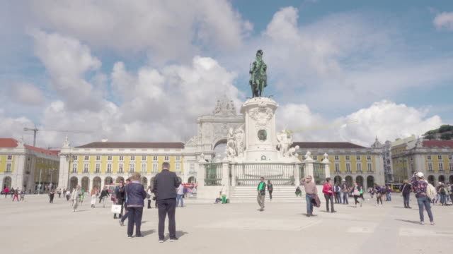 Lisbon Portugal Do Comercio square with king Jose I statue