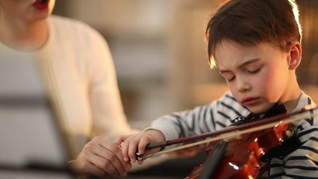 listening to my teacher - string instrument stock videos & royalty-free footage