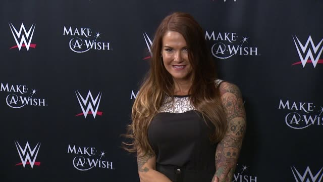 lita at dave buster's time square on august 21 2015 in new york city - cena stock videos & royalty-free footage