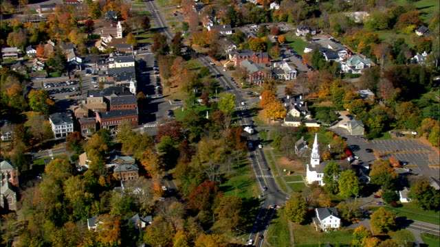 litchfield  - aerial view - connecticut,  litchfield county,  united states - connecticut stock videos & royalty-free footage