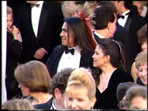 stockvideo's en b-roll-footage met litefoot at the 1991 academy awards at the shrine auditorium in los angeles california on march 25 1991 - 1991