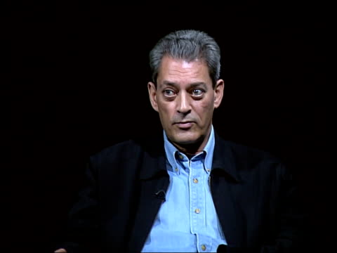 american writer paul auster on visit to london paul auster interview sot we found this telephone book/ it seemed like haunted book because here you... - literature stock videos & royalty-free footage