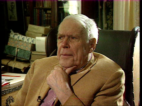 anthony powell's 'a dance to the music of time' powell interview sot no idea widmerpool would be the success he was / he wasn't supposed to be... - anthony powell stock videos & royalty-free footage