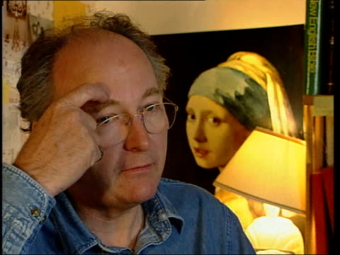 Author Philip Pullman interviewed Handwritten documents leafed through Pullman interview SOT My quarrel with christianity and other heaven based...