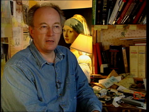 author philip pullman interviewed; pullman interview sot - and i thought about it and suddenly realised that the whole story turns on this difference... - literature stock videos & royalty-free footage
