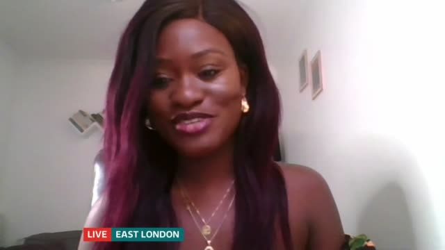 bolu babalola interview england london gir int bolu babalola live 2way interview sot - literature stock videos & royalty-free footage