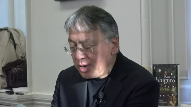 british writer kazuo ishiguro wins nobel prize for literature; london: kazuo ishiguro press conference sot - this is amazing and totally unexpected... - kazuo ishiguro stock videos & royalty-free footage