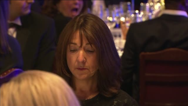 camilla presents man booker prize award man on stage at podium introducing 2015 man booker prize / camilla on stage / people at dinner tables... - booker prize stock-videos und b-roll-filmmaterial