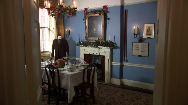 charles dicken museum opens christmas carol exhibition england london holborn int general views charles dickens museum - charles dickens stock videos & royalty-free footage