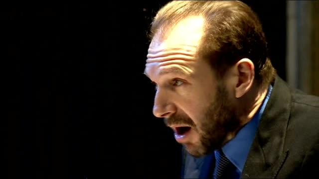 charles dickens bicentenary celebrations actor ralph fiennes reading from 'bleak house' at service to mark his 200th birthday sot - charles dickens stock videos & royalty-free footage