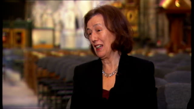 charles dickens bicentenary celebrations; claire tomalin interview sot - on what charles dickens would make of today's society - literature stock videos & royalty-free footage