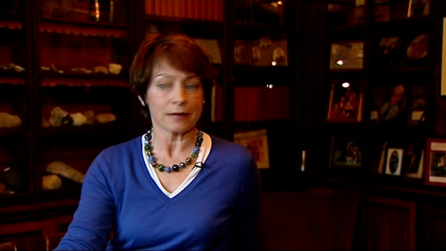 charles dickens bicentenary celebrations; gad's hill place: marion dickens lloyd showing reporter around study at dickens's former home and interview... - literature stock-videos und b-roll-filmmaterial