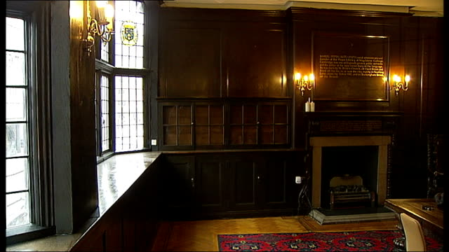 charles dickens bicentenary celebrations: report looking at the areas of london that inspired his work; fleet street: prince henry's room: exterior... - charles dickens stock videos & royalty-free footage