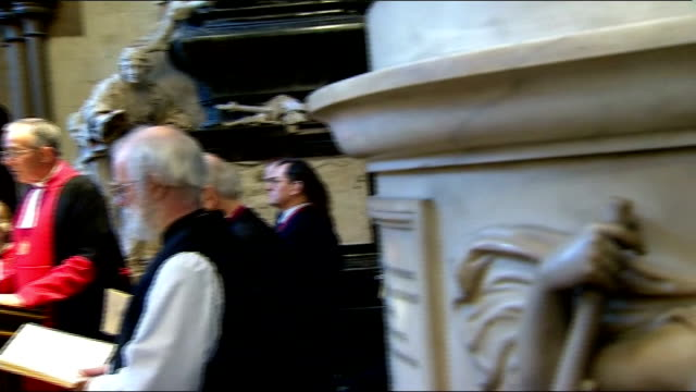 literature: charles dickens bicentenary celebrations: service at westminster abbey; very reverend dr john hall speaking sot picture freezes - literature stock videos & royalty-free footage