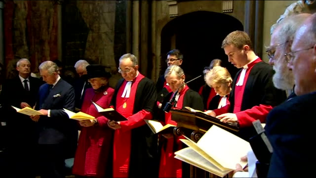 literature: charles dickens bicentenary celebrations: service at westminster abbey; the reverend dr james hawkey leads prayers sot - literature stock videos & royalty-free footage
