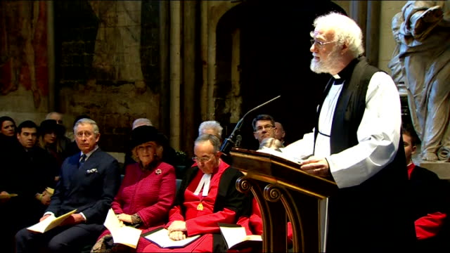 charles dickens bicentenary celebrations service at westminster abbey dickens is the enemy not so much of an unjust view of human beings as of a... - charles dickens stock videos and b-roll footage