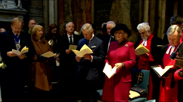 vídeos y material grabado en eventos de stock de literature: charles dickens bicentenary celebrations: service at westminster abbey; very reverend dr john hall speaking sot - his genius saw through... - literature