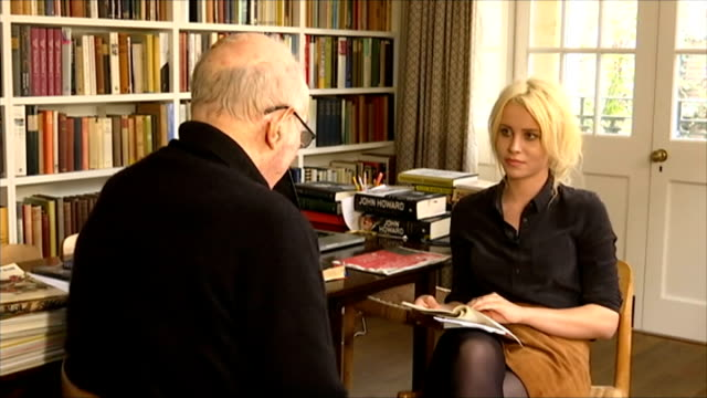 clive james interview; int clive james interview sot/ - literature stock videos & royalty-free footage
