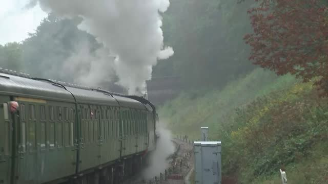 dame jacqueline wilson updating 'the railway children' more than a century after it was published; england: east sussex: sheffield park station: int... - rail transportation stock videos & royalty-free footage