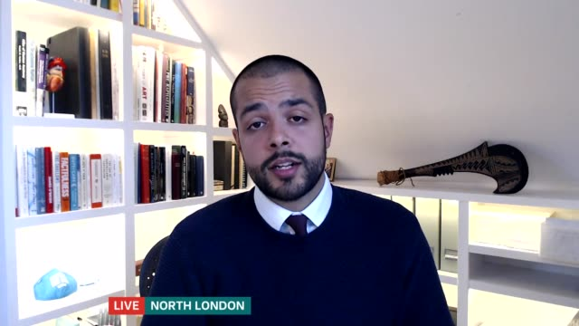 dr dominic pimenta writes book about experiences on the frontline and resigning in response to dominic cummings' lockdown trip; england: london: gir:... - itv london tonight stock-videos und b-roll-filmmaterial
