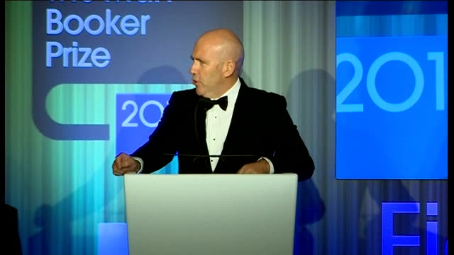 duchess of cornwall presents man booker prize camilla presenting man booker prize to richard flanagan richard flanagan speech sot camilla presenting... - man booker prize stock videos & royalty-free footage
