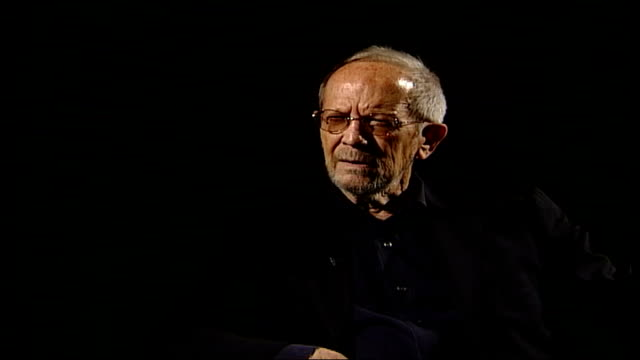elmore leonard wins crime writers association award england london national film theatre int elmore leonard interviewed sot every character has to... - literature stock videos & royalty-free footage