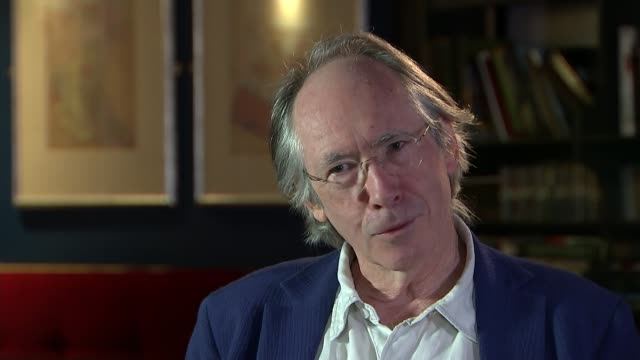 ian mcewan interview; england: int ian mcewan interview sot - re his new novel, nutshell - re identity politics - re burkini ban in france - re eu... - nutshell stock videos & royalty-free footage