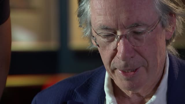 ian mcewan interview; ian mcewan reads from his new novel, nutshell sot - nutshell stock videos & royalty-free footage