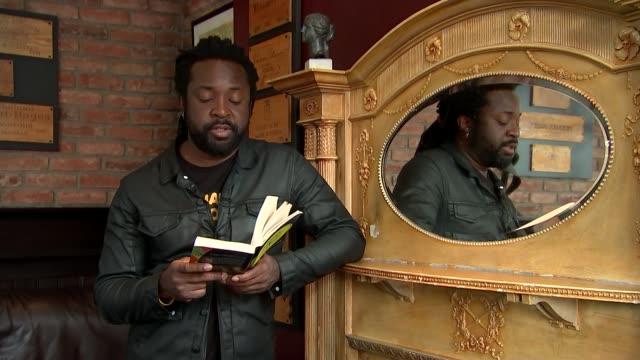 interview with novelist marlon james; england: london: marlon james reading excerpt from his book sot - literature stock videos & royalty-free footage