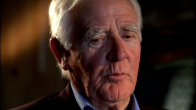 john le carre interview; cornwall: st buryan: int david cornwell interview sot - on being betrayed by philby and how untrustworthy he was. on how he... - デビッド コーンウェル点の映像素材/bロール