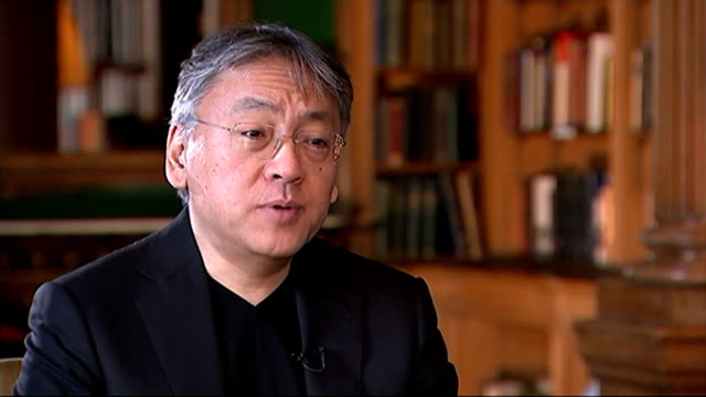 kazuo ishiguro releases new book 'the buried giant'; england: london: int kazuo ishiguro interview sot - kazuo ishiguro stock videos & royalty-free footage