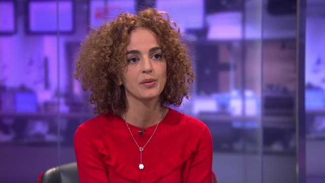Lelia Slimani interview ENGLAND London INT Leila Slimani STUDIO interview SOT Aim of literature to disturb the reader / confronting fears on not...