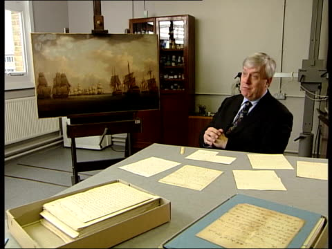 literature letters found/ exhibition preview colin white interview sot 1410 / now the word's got out and book has been published people have been... - literature stock videos & royalty-free footage