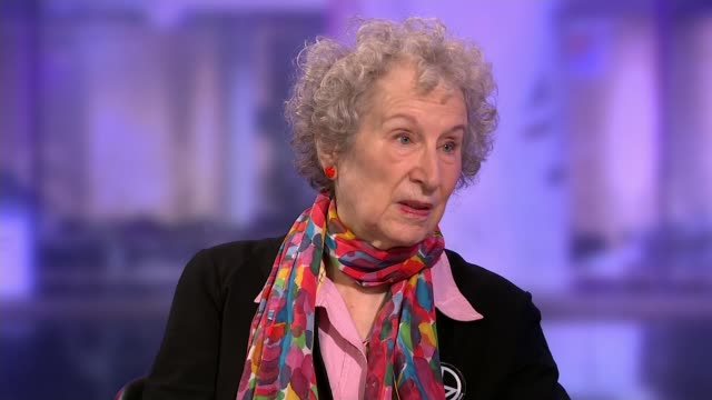man booker prize awarded to bernardine evaristo and margaret atwood england london gir int margaret atwood and bernardine evaristo studio interview... - cathy newman stock videos & royalty-free footage