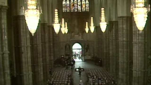memorial stone to poet philip larkin unveiled in westminster abbey; 14.2.1986 / as140286013 london: westminster abbey: philip larkin memorial... - john amis stock videos & royalty-free footage