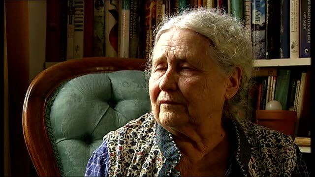 nobel prize-winning writer doris lessing dies aged 94; t11100731 / tx close up book cover 'the golden notebook' by lessing books written by lessing... - nobel prize in literature stock videos & royalty-free footage