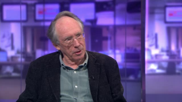 Novelist Ian McEwan interview ENGLAND London GIR INT Ian McEwan STUDIO interview SOT