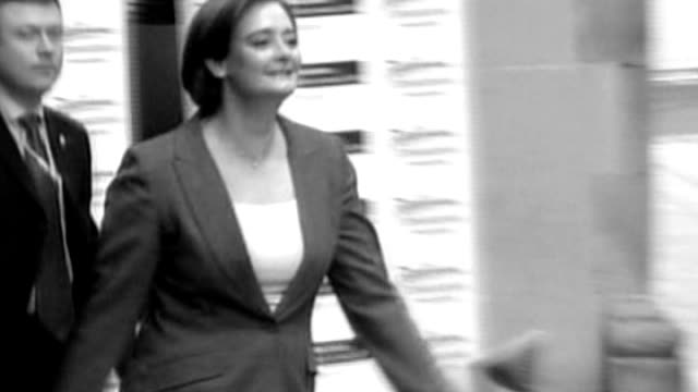 political biographies; b/w graphicised shot of cherie blair along - literature stock videos & royalty-free footage