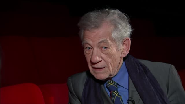 preview of events to mark 400th anniversary of william shakespeare's death sir ian mckellen interview sot - ian mckellen stock videos and b-roll footage