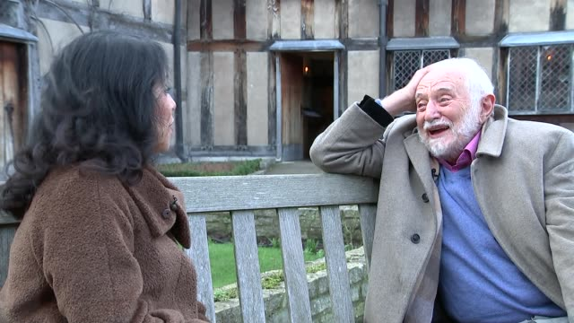 preview of events to mark 400th anniversary of william shakespeare's death professor stanley wells interview sot general view of holy trinity church - william shakespeare stock videos & royalty-free footage