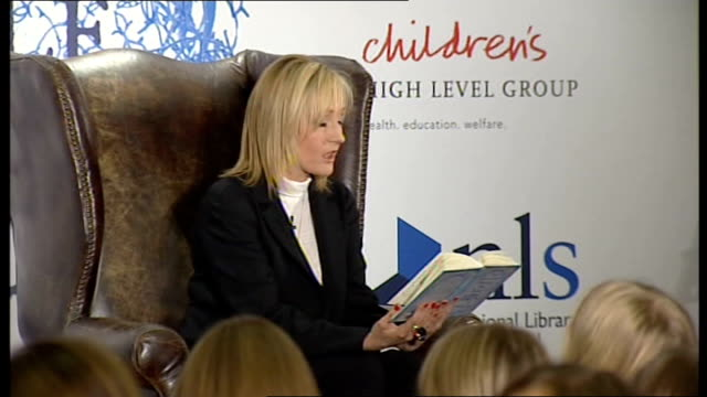 sales of secret crime novel by jk rowling soar; 4.12.2008 / r04120813 scotland: edinburgh: int jk rowling reading story from her book of short... - literature stock videos & royalty-free footage
